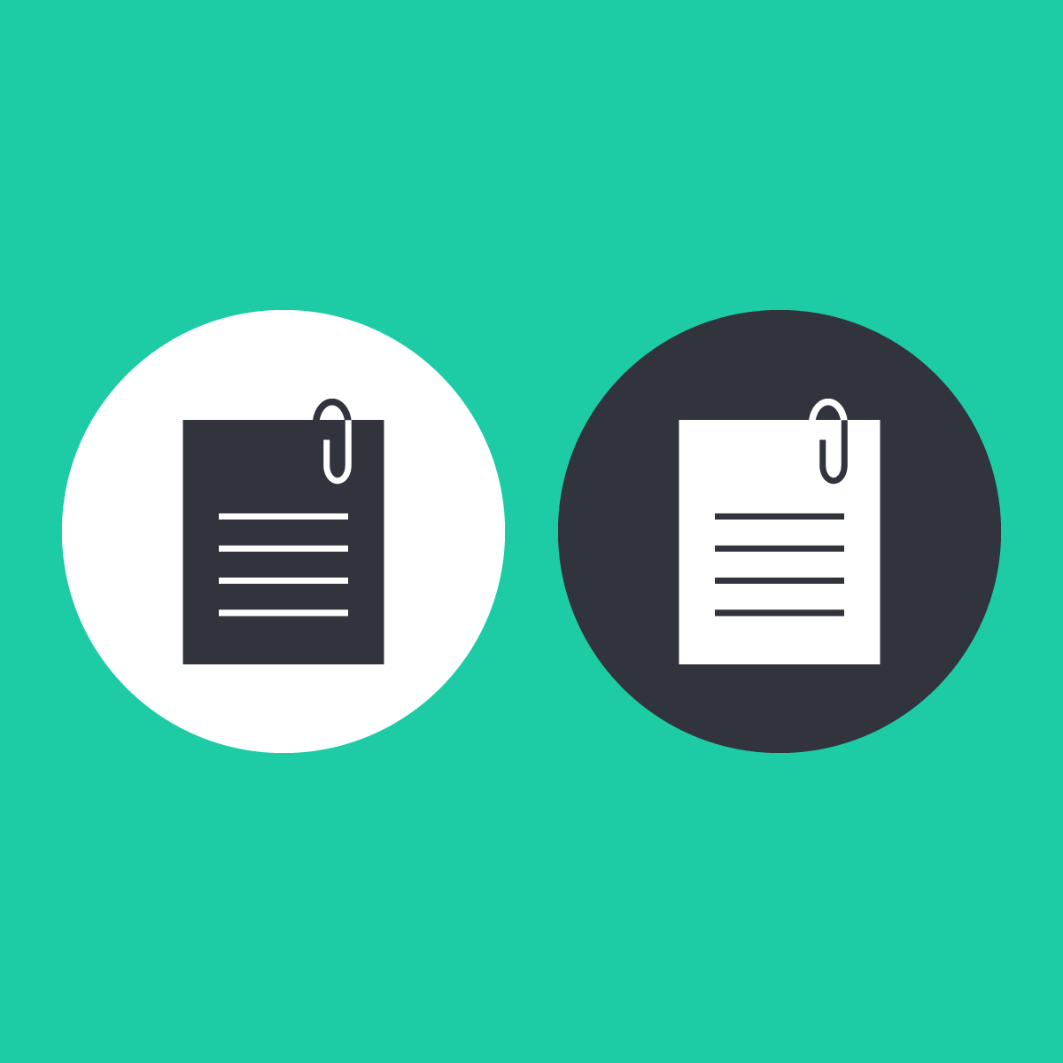 two duplicate files icons on a green background